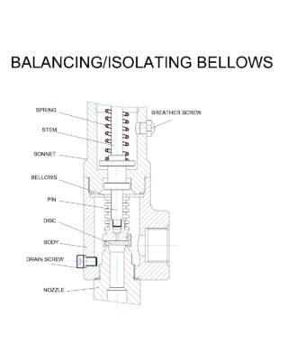 Balancing/isolating bellow